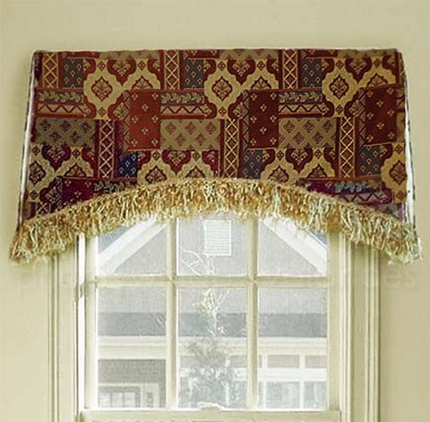 Arched Kick Pleat Valance On A Board Custom Made