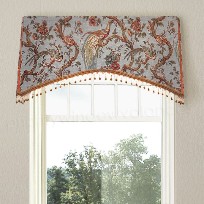 Spa Blue Arched Window Valance