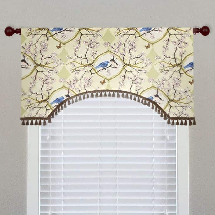 Arched Bird Toile Valance