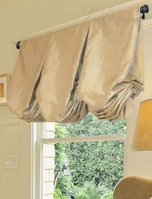 Solid Color Balloon Valance Curtain