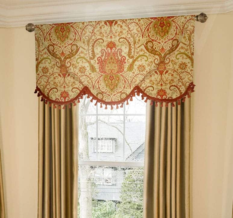 Large Paisley Luxury Valance in Arched Shape