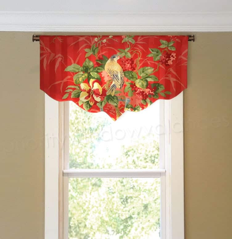 Arched Valance for Narrow French Door