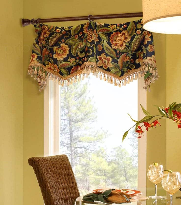 Casual Valance with Goblet Pleats Custom