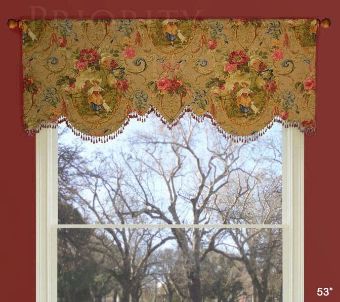 Scalloped Julia Custom Valance 700 Fabrics Or Yours