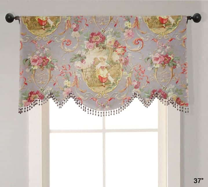 Valance Custom Arched Scallop Shape