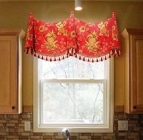 Medallion Swag Valance With Bells 700 Fabrics Or Yours