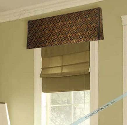 Custom Valance in Black and Red Linen