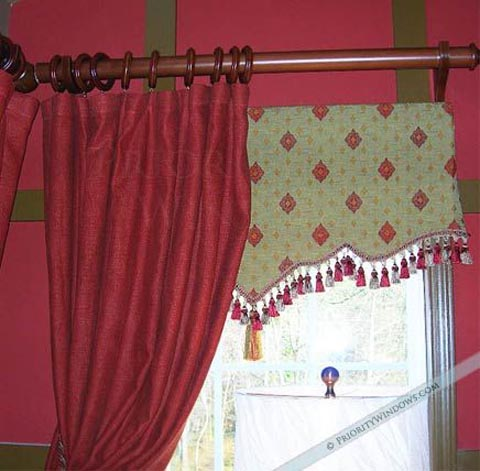 Gold Geometric Arched Valance