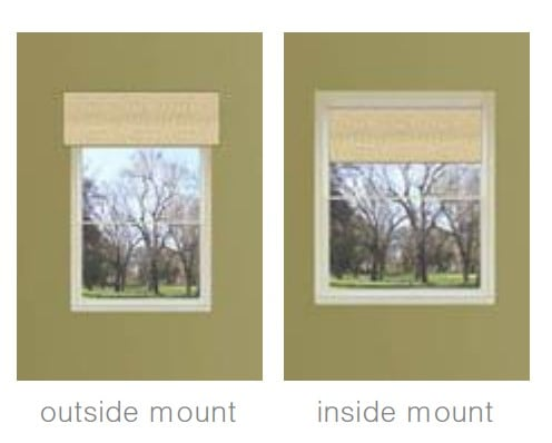 Inside Mount and Outside Mount Window Treatment
