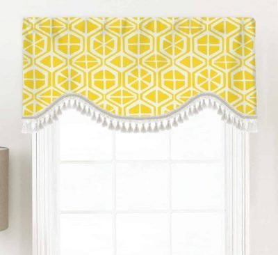 Aiden (Contemporary Diamonds) Shaped Valance Curtain