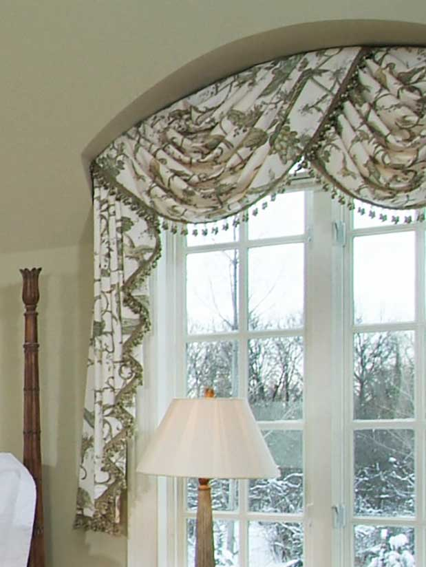 Arched Bedroom Swag Valance