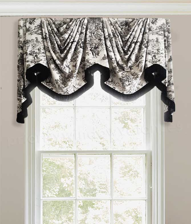 Swags in Arches Window Treatment