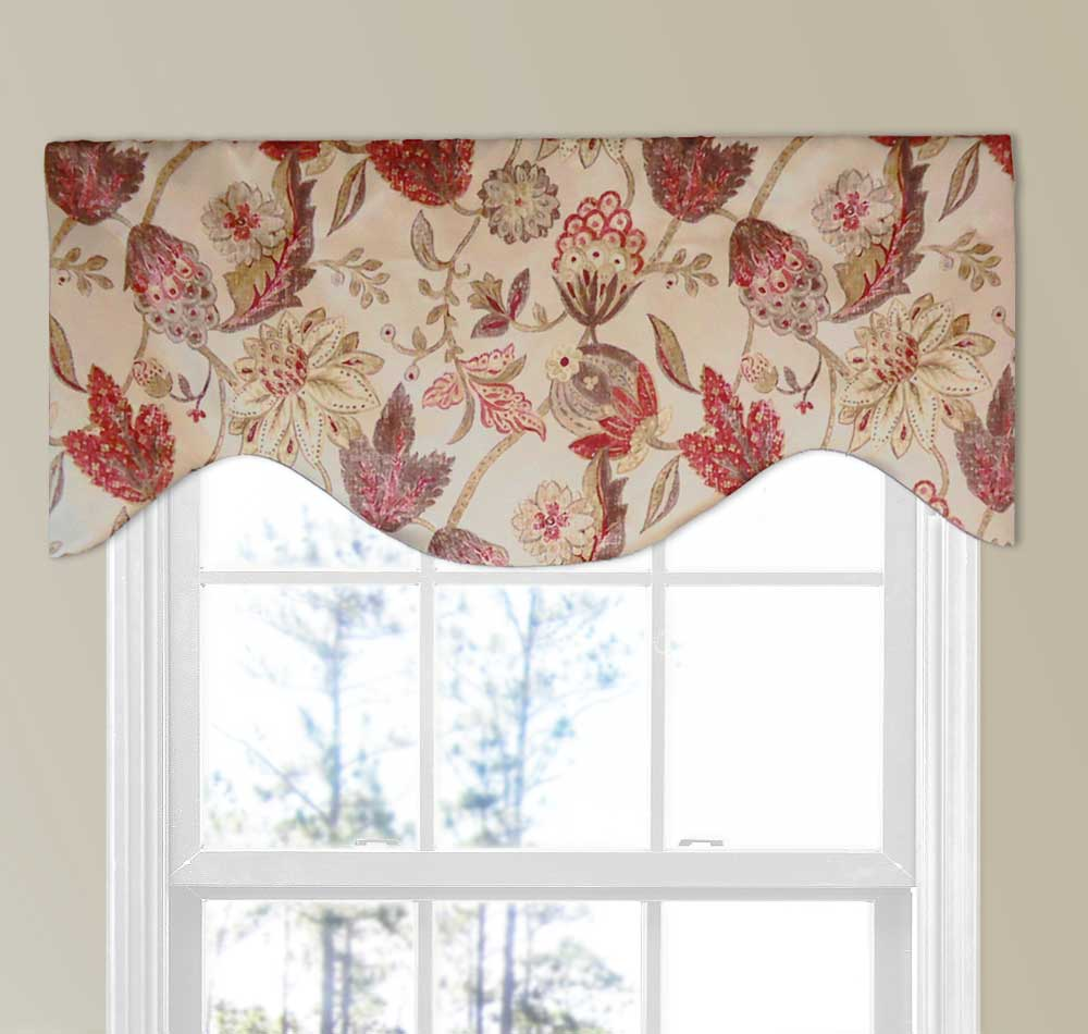 Arched Window Valance with Cornice Rod Pocket