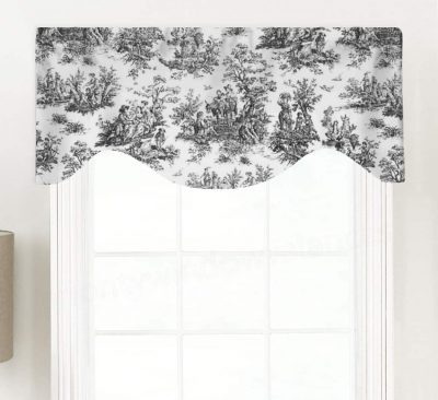 Colonial (French Toile) Shaped Valance Curtain