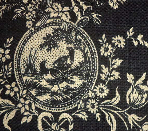 Country House Black Fabric