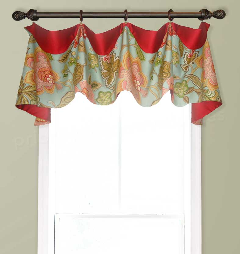 Colorful Cuff Top Valance