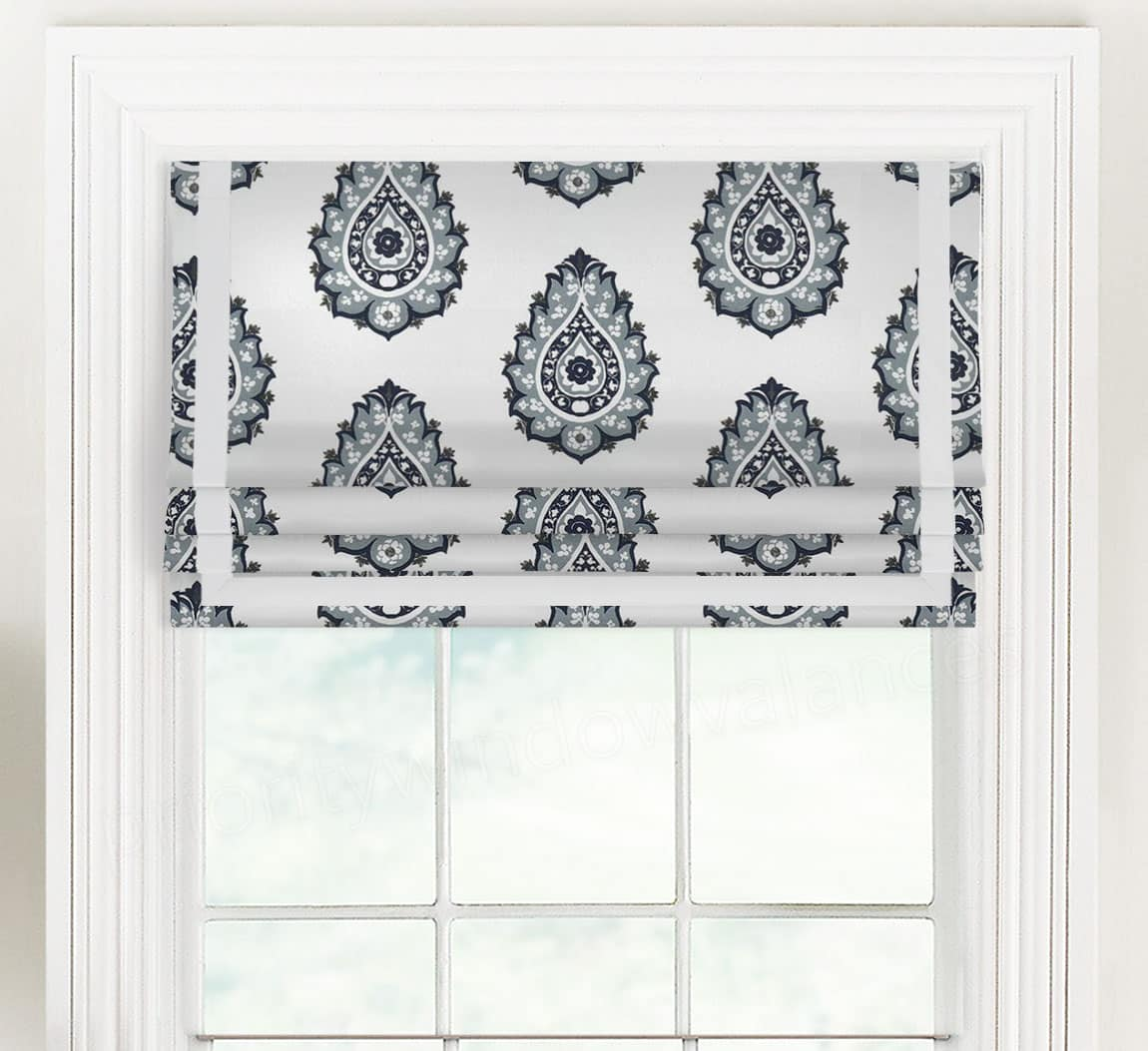 Outside Mount Roman Shade With Valance
