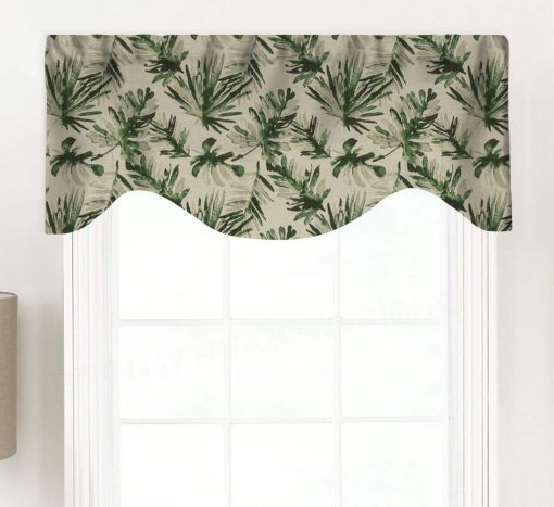 Frond (Tropical Palm Fabric) Shaped Valance Curtain