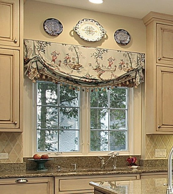 Kitchen Sink Bay Window: What Are Real London Valances (or Shades)?