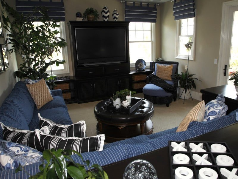 Small Living Room with Tab Top Valances