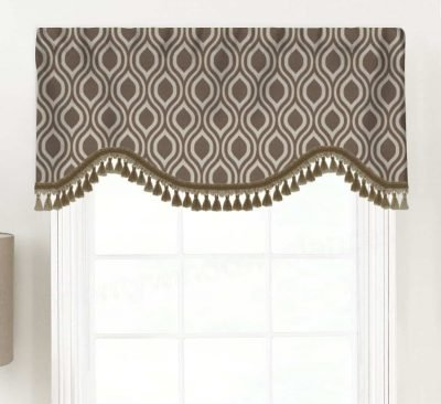 Nicole (Classic Ogee Pattern) Shaped Valance Curtain