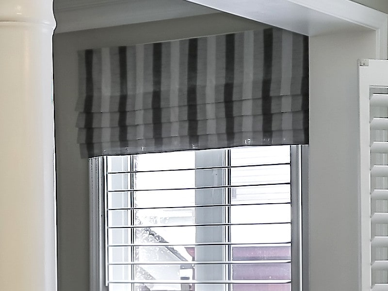 Simple Hobbled Faux Shade in Striped Fabric