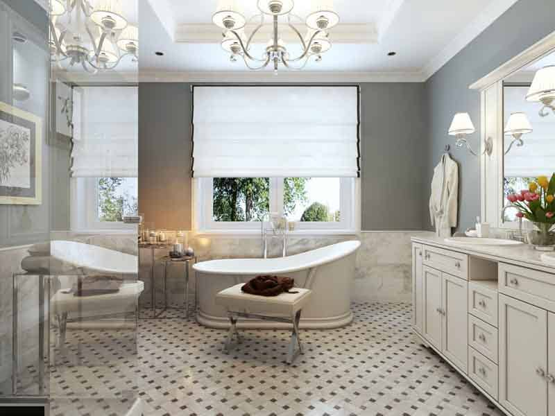 13 Ideas for Bathroom Window Treatments Over Bathtubs – PWV