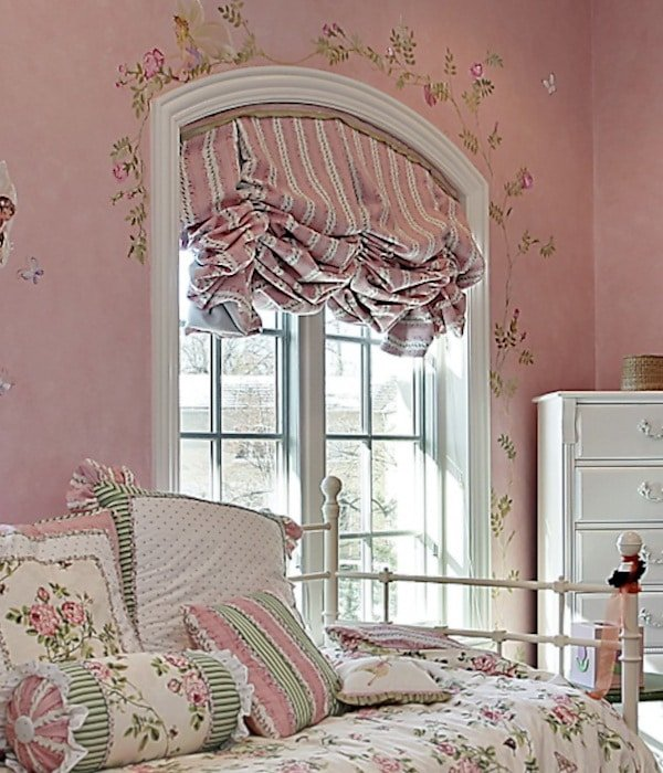 Pink Valance over Daybed