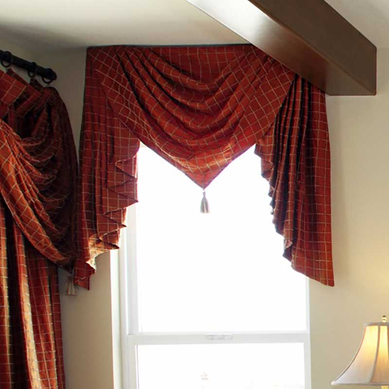 Red Pointed Custom Valance