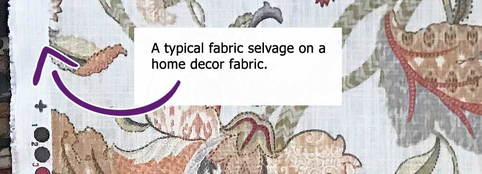selvage home decor fabric