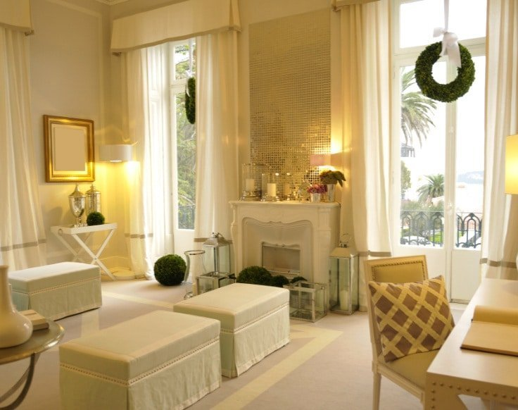 Hollywood Glam Gold with Modern Valances