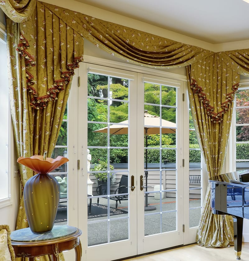 In The Previous Example French Doors Obviously Weren T Use But What If You D Like A Valance And Still Want To Be Able Your